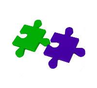 Puzzleteile die ineinandergreifen sollen