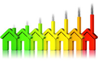 Häuser mit verschiedenen Energieprofilen