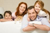 Familie mit Wohneigentum