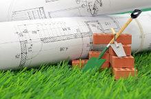 Bauplan und Baugeräte